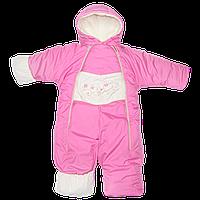 Детский демисезонный (осенний,зимний,весенний) комбинезон-трансформер на флисе и холлофайбере на рост 68-86 см