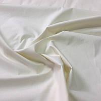 Бязь однотонная молочная, кремовая, ширина 160 см