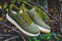 Кроссовки женские Nike Air force 1 low green crocodile