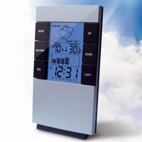 Часы гигрометр термометр с подсветкой 3210