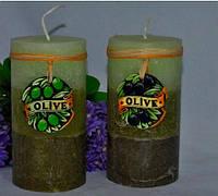 Ароматизированная Свеча Olive цилиндр 70х140 мм