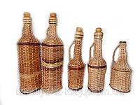 Бутылки разного дизайна из лозы, фото 1