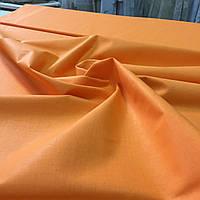 Бязь оранжевая однотонная, ширина 160 см