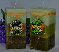 Ароматизированная Свеча Olive квадрат 70х140 мм