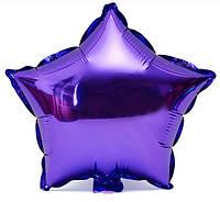 Шар фольга Звезда фиолетовая