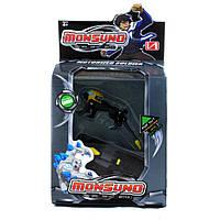 """Monsuno """"Motorized Soldier"""" Driftblade: монсуно-герой, капсула и карта способностей."""