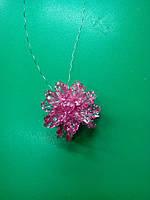 Магнит-подхват для штор Астра розовая