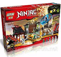 """Детский конструктор Lepin 06033 Ninja (аналог Lego Ninjago 70590) """"Боевая площадка для аэроджитцу"""" 723 дет"""