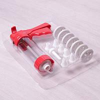 Кондитерский шприц-пресс Kamille (7778) из пластика 21 насадка