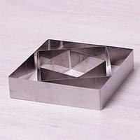 Набор из 3 квадратных форм для выкладки/вырубки Kamille (7775) 10/15/20см