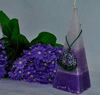 Ароматизированная Свеча Фиалка пирамида 50х150 мм