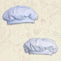 Берет для малышей Интерлок Цвет белый, молочный Размер 74-86 Бетис