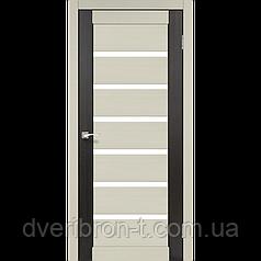 Двери Корфад Porto Combi PC-01 комбинированный дуб беленый / венге