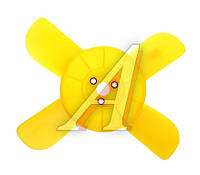 Вентилятор системы охлаждения (крыльчатка) ВАЗ 2101-07 желт. (4 лопаст.) (пр-во г.Херсон)