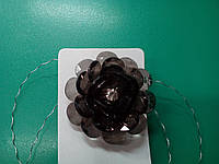 Магнит-подхват для штор цветок черный