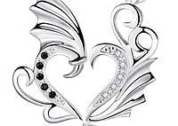 Парные кулоны Крылья Ангела в подарочной упаковке