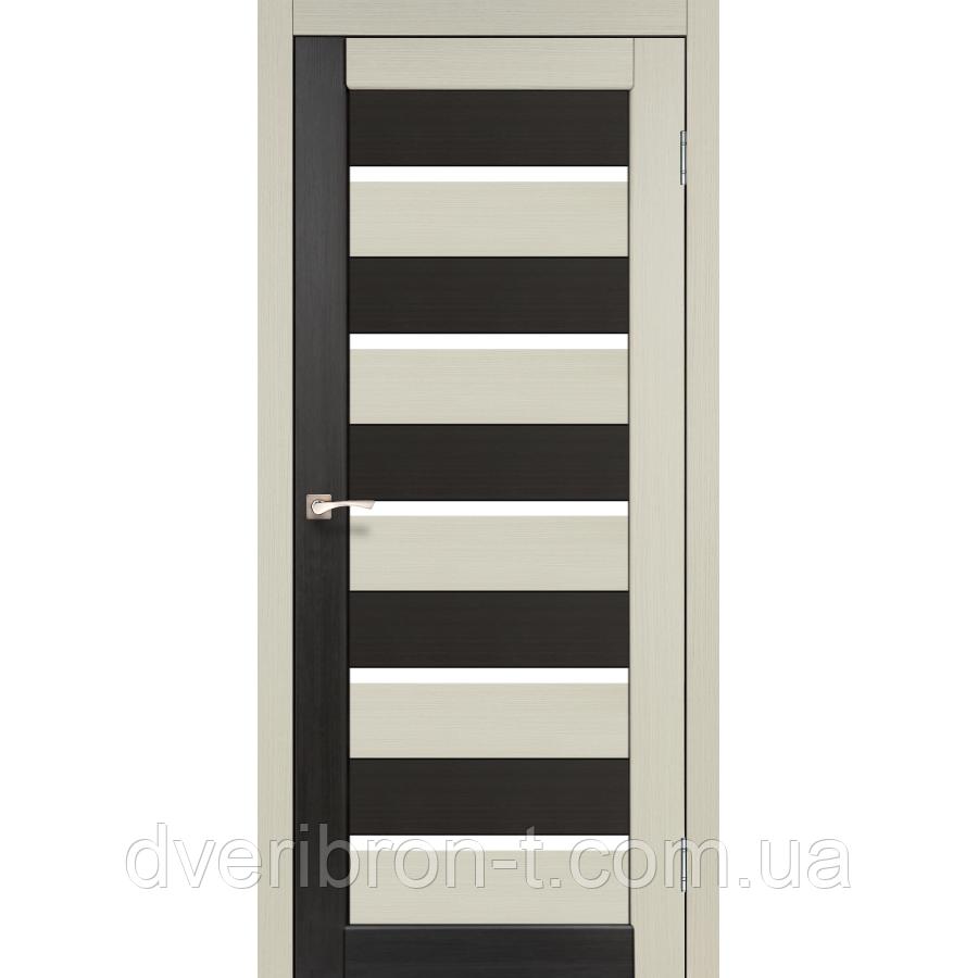 Двери Корфад Porto Combi PC-05 комбинированный дуб беленый / венге