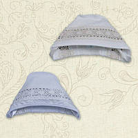 Чепчик для девочки Натхнення Интерлок Цвет белый, молочный Размер 56-68 Бетис