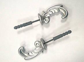 "Крючки для штор ""Классик"" (2шт) матовое серебро, фото 2"