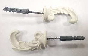 "Крючки для штор ""Классик"" (2шт) белые, фото 2"