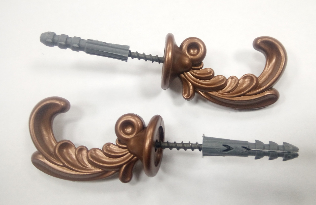 """Крючки для штор """"Классик"""" (2шт) коричневые"""