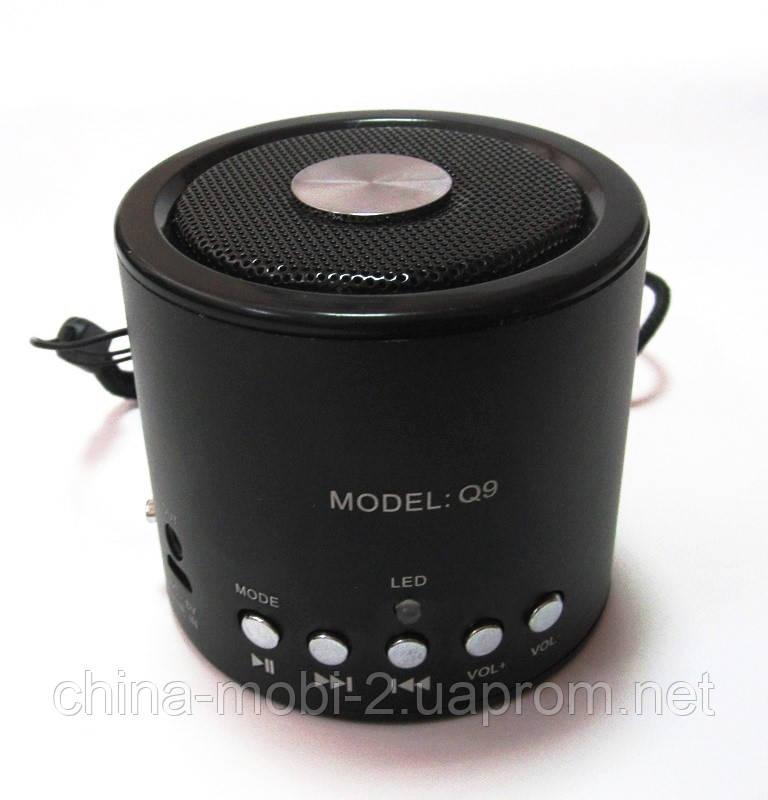 Портативная колонка WS-Q9 Mini bluetooth speaker MP3 FM