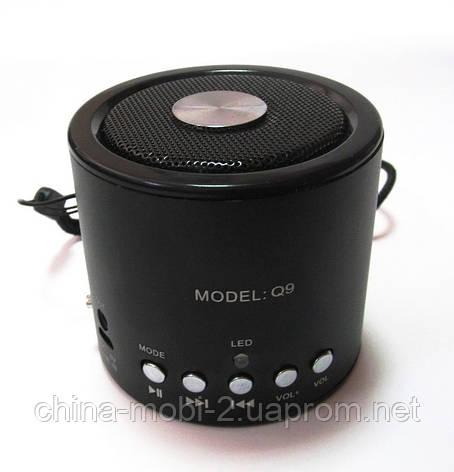 Портативная колонка WS-Q9 Mini bluetooth speaker MP3 FM, фото 2