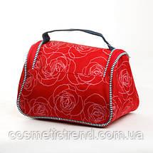 Косметичка женская дорожная Reed Marina Red 7546 (Польша) 22.5*14*14.5 см, фото 3