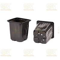 Термоформованный пластиковый горшок для рассады, 0,55 л, 9*9*10 см