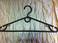 Плечики вешалки тремпеля  серого цвета, длина 39 см