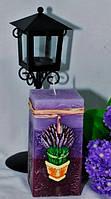 Ароматизированная Свеча Лаванда квадрат 70х140 мм