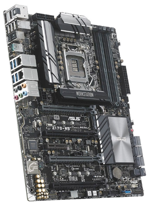 "Материнская плата Asus Z170-WS Z170 DDR4 s.1151 Б/У ""Over-Stock"" Б/У"