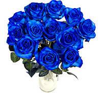 Florich Букет долгосвежих роз СИНИЙ САПФИР (5 карат на коротком стебле) FLORICH