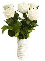 Florich Букет долгосвежих роз Белый бриллиант (5 карат на среднем стебле) Florich