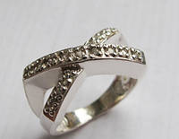 Кольцо серебряное Бесконечность Острая
