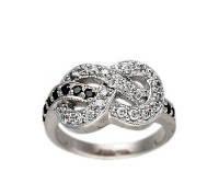 Кольцо серебряное Черно-Белая Бесконечность