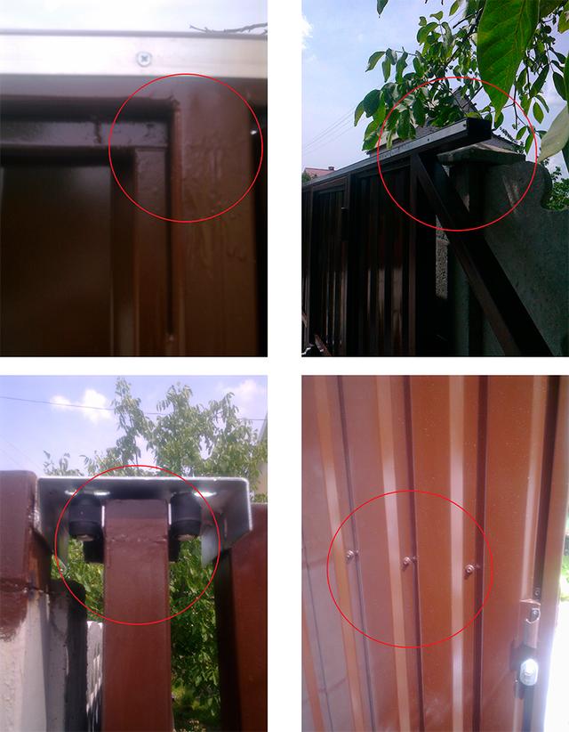Пример плохих откатных ворот