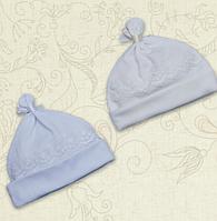 Шапочка для девочки Сонечко Интерлок Цвет молочный, белый Размер 50-74 Бетис