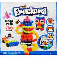 """Мягкий конструктор липучка Банчемс 700 """"Вязкий пушистый шарик"""", шарики липучки, интерактивный, Bunchems"""