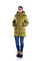Куртка женская больших размеров  Диана 46, 48, 50, 52, 54 зеленая