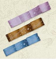 Лента на выписку Святкова 5 см Атлас Цвет в ассортименте Бетис