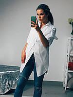 Блуза женская удлиненная из поплина (К11330)