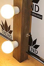 Световые планки деревянные, подсветка гримерного зеркала, фото 3