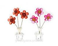 Цветок хрустальный (3 цветка)(8490)(11,5х6х3,5 см)