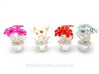 Цветы в хрустальном горшке (7х3х3 см)(8523)