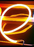 Круглый -неон Флекс(FlexNeon),светодиодный неон.Ø16мм.120-2835 220V—цвет Желтый.