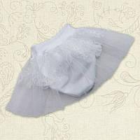Трусы Модель-1 под подгузник Кулир/гипюр Цвет белый, молочный Размер 56-68 Бетис