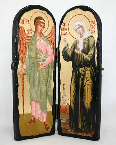 Складень Матрона и Ангел-Хранитель 300х100