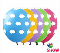 """Латексные воздушные шарики горох облака 12"""" (30 см)  ТМ Show"""