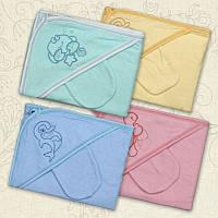Набор для купания Вушки уголок, рукавичка Махра Цвет в ассортименте Размер 85*85 см Бетис